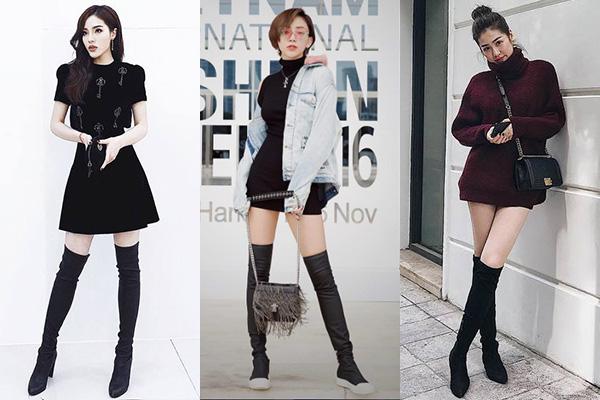 Các chuyên gia khuyên cách kết hợp boots cao quá gối đúng cách là diện cùng các kiểu váy, quần shorts với độ dài ngang đùi để tạo nên khoảng hở ở chân, giúp chân được kéo dài hơn, trông sexy và không bị nặng nề. Đây cũng là lý do boots đùi cùng mốt áo váy giấu quần rất được ưa chuộng trong mùa lạnh.