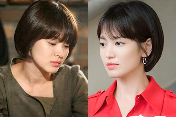 Khi để lại kiểu tóc cách cả thập kỷ, Song Hye Kyo chứng minh cho việc bị thời gian lãng quên. 10 năm trôi qua nhưng nhan sắc của nữ diễn viên không mấy thay đổi, thậm chí ngày càng xinh đẹp, mặn mà.