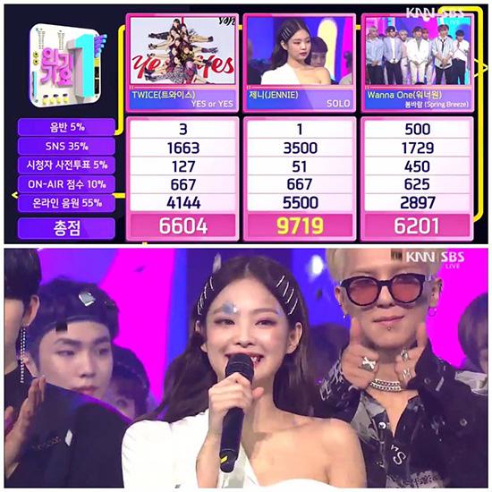 Mino ủng hộ chiến thắng của Jennie.