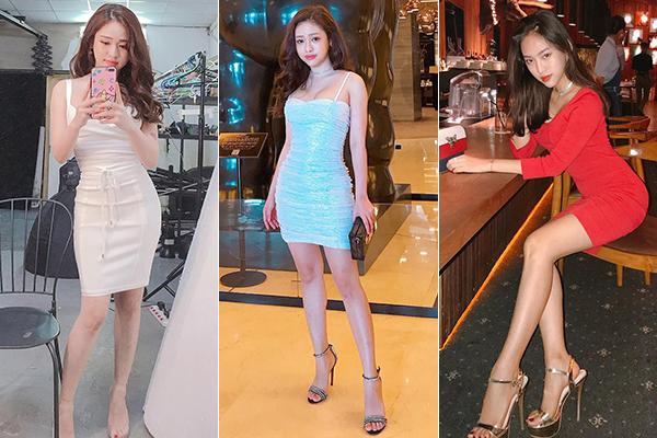 Đầu tư không ít cho hàng hiệu nhưng phong cách của Thúy Vi khá dễ đoán. Cô nàng thích khoe dáng sexy bằng các kiểu đầm bó sát. Với kiểu sandals quai ngang, hot girl Cà Mau cũng từng sắm không ít đôi trước đó.