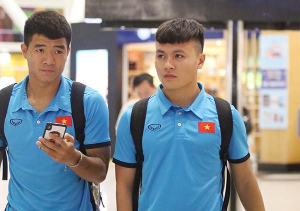 Quang Hải và Hà Đức Chinh.