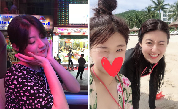 Nam Ji Hyun khoe ảnh dạo phố, uống cà phê và tắm biển ở Nha Trang.