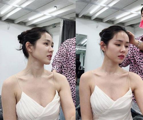 Nhan sắc mỹ miều trong bức ảnh chụp camera thường của Son Ye Jin từng gây sốt mạng xã hội. Nhiều fan khen ngợi  gương mặttrẻ trung cùng vóc dáng quyến rũ của người đẹp 36 tuổi.