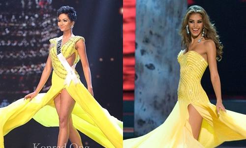 Fan so sánh màn catwalk của HHen Niê với Miss Universe 2008 - Dayana Mendoza.