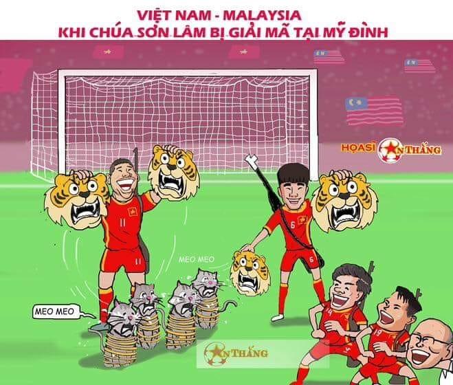 """<p> Bàn thắng duy nhất của Anh Đức giúp thầy trò Park Hang-seo thắng Malaysia 1-0 ở chung kết lượt về hôm 15/12.Sau hai lượt trận, Việt Nam thắng với tổng tỷ số 3-2 và vô địch AFF Cup 2018. Như vậy, sau 10 năm chờ đợi Việt Nam một lần nữa chạm tay tới cúp vô địch. Nhưng chú hổ Malaysia một lần nữa được chế """"mèo lại hoàn mèo"""".</p>"""
