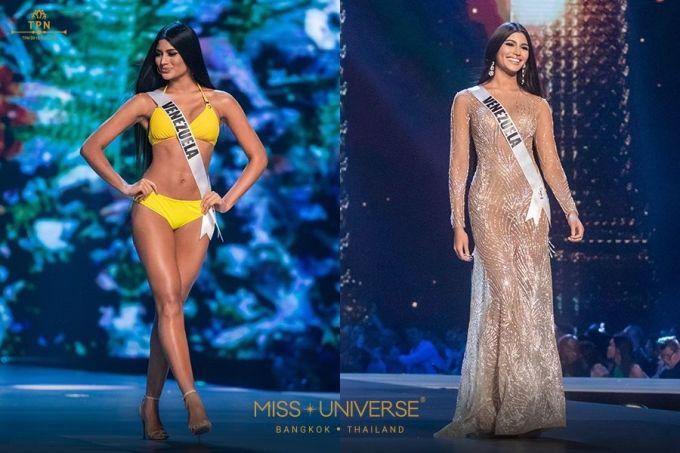 <p> Hoa hậu Venezuela Sthefany Gutiérrez mới 18 tuổi nhưng đã là ứng cử viên nặng ký cho ngôi vị cao nhất. Cô có chiều cao 1,8 m, số đo ba vòng hoàn hảo 90-60-90 cùng mái tóc dài suôn mượt. Ngoài lợi thế ngoại hình, Sthefany còn có điểm cộng là đến từ quốc gia đang sở hữu đến 7 vương miện Hoa hậu Hoàn vũ.</p>