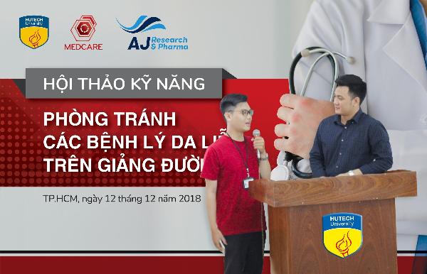Giám đốc Phòng khám chuyên khoa Da liễu Medcare - Bác sĩ Nguyễn Ngọc Khôi tổng hợp kiến thức của hội thảo cho sinh viên.