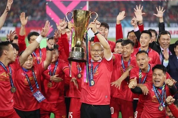 ĐT Việt Nam giây phút lên ngôi vương AFF Cup 2018.