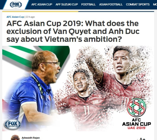 Bài viết trên Fox Spots Asia.