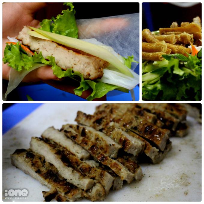 """<p> <strong><a href=""""https://ione.net/tin-tuc/nhip-song/an-choi/nem-nuong-nha-trang-mon-an-mien-trung-lam-say-long-nguoi-bac-3837953.html"""">Nem nướng Nha Trang</a></strong></p> <p> Cũng giống như bánh tráng cuốn thịt heo, một mẹt nem nướng Nha Trang sẽ đầy đủ các loại đồ ăn kèm như rau sống, dưa chuột, cà rốt, xoài keo,dưa chuột nếp, bún và thịt nướng.Ngoài khâu chuẩn bị thịt thì điều làm nên hương vị tuyệt vời của món ăn là thứ nước chấm sền sệt, thêm chút hành khô chín vàng, giòn tan.</p>"""
