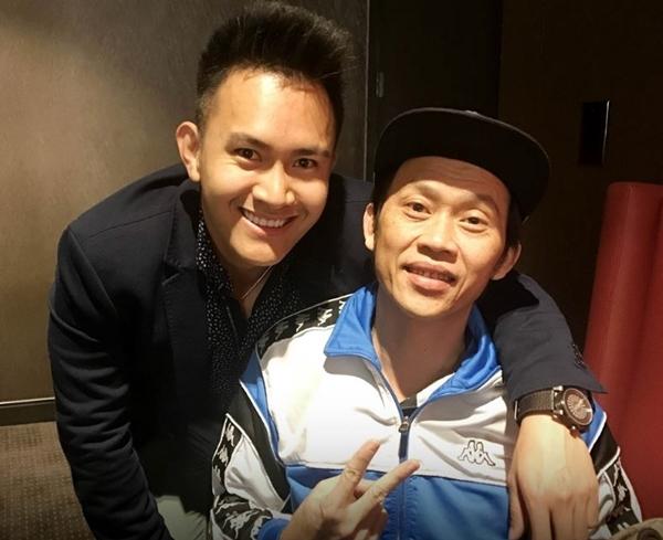 Hoài Linh và con trai ruột.