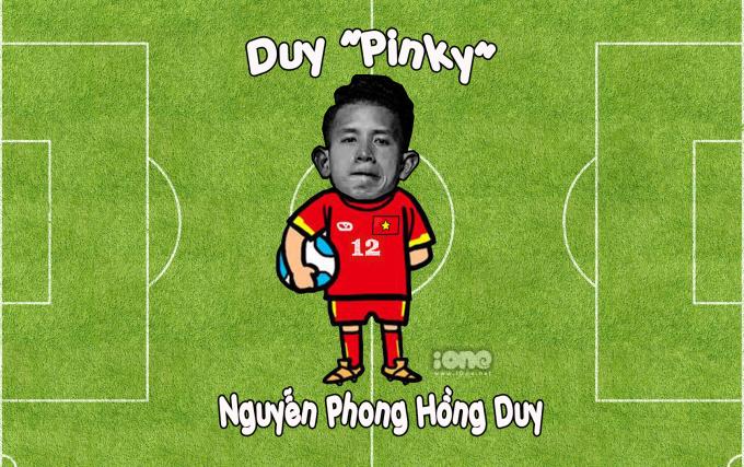 """<p> Biệt danh """"Duy Pinky"""" xuất hiện khi anh chàng sở hữu cho riêng mình một shop mỹ phẩm trên trang Instagram với tên gọi """"Pinky"""". Ngoài ra Hồng Duy còn nổi tiếng là nam cầu thủ chăm chút nhan sắc kỹ lưỡng nhất đội tuyển Việt Nam.</p>"""