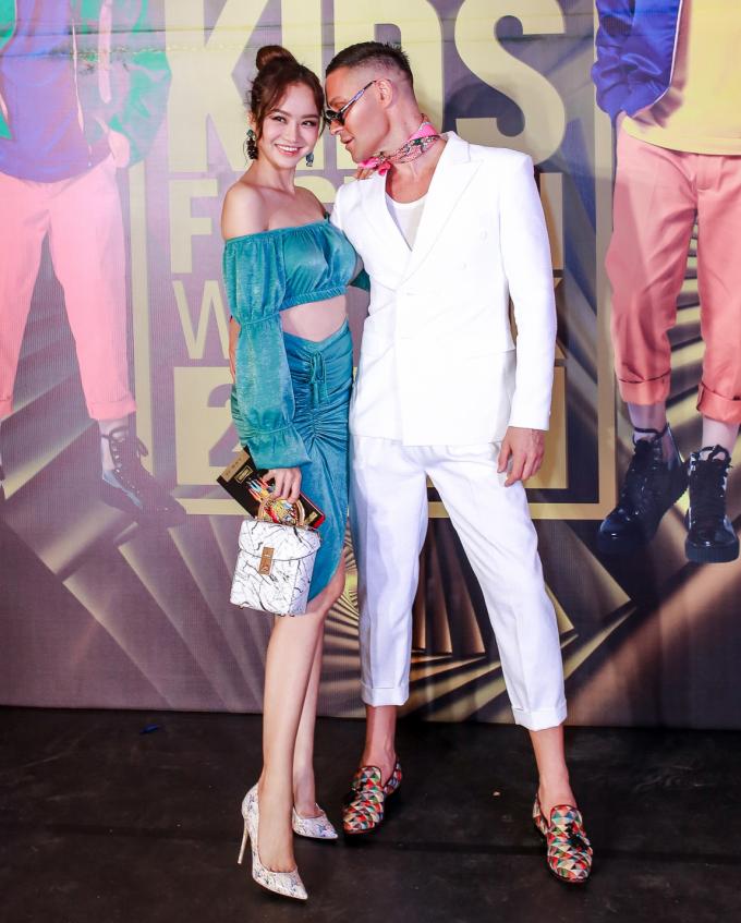 <p> Én Vàng Kiều Ngân và Adam Williams - giám khảo Australia's Next Top Model.</p>