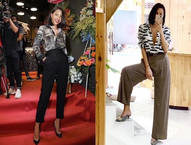 <p> Cả Minh Triệu và Kỳ Duyên đều yêu thích phong cách menswear. Họ thích phối quần cạp cao cùng áo sơ mi trần ngực gợi cảm.</p>