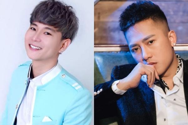 Châu Khải Phong (phải) và nhạc sĩ Đinh Tùng Huy.