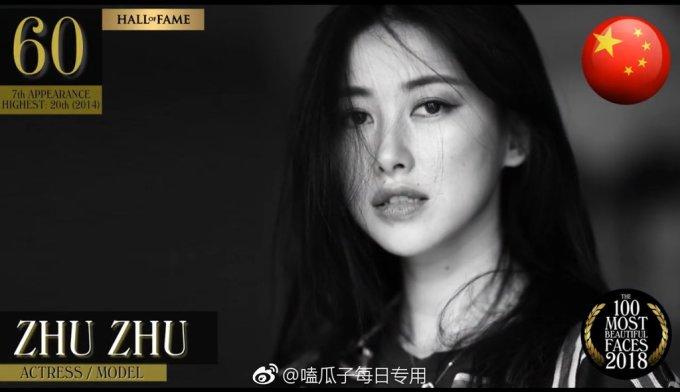<p> <strong>3. Zhu Zhu </strong></p> <p> Người đẹp Zhu Zhu có hạng 60 trong top 100. Vị trí cao nhất cô từng đạt được là top 20 năm 2014.</p>