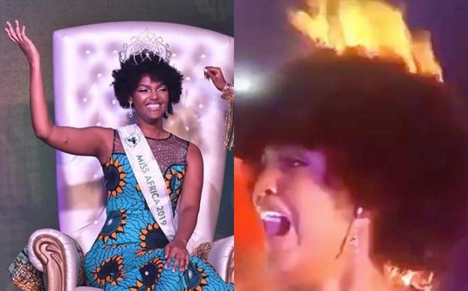 """<p> <strong>1. Hoa hậu châu Phi bị cháy tóc</strong></p> <p> Chung kết Hoa hậu châu Phi - Miss Africa 2018 khép lại tối 28/12 (giờ địa phương) với sự đăng quang của Dorcas Dienda, thí sinh đến từ Congo.</p> <p> Tuy nhiên, cô đã gặp phải <a href=""""https://ione.vnexpress.net/tin-tuc/sao/tan-hoa-hau-chau-phi-la-het-vi-chay-toc-luc-dang-quang-3861389.html"""">tai nạn hy hữu</a> trên sân khấu ở khoảnh khắc đăng quang. Tóc của Dorcas bị bắt lửa khi ban tổ chức đốt pháo sáng mừng tân hoa hậu. Khi phát hiện lửa cháy trên đầu, Dorcas la hét thất thanh vì sợ hãi. MC đêm chung kết đã phải vội vàng chạy lại dập lửa trong tình huống hỗn loạn.</p> <p> Sau đêm chung kết, Dorcas đã gửi lời cảm ơn đến khán giả vì đã quan tâm mình. Cô cho biết mình không bị thương sau sự cố.</p>"""