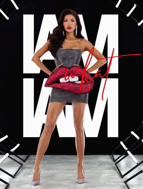 Chiếc váy tiếp tục được Minh Tú diện lại trong một bộ ảnh quảng cáo son môi. Khác với vẻ cá tính trước đó, trong bộ ảnh Minh Tú diện cùng giày cao gót ánh bạc cùng lối trang điểm son đỏ rất quyến rũ. Chiếc váy giúp Minh Tú khoe được vóc dáng săn chắc.