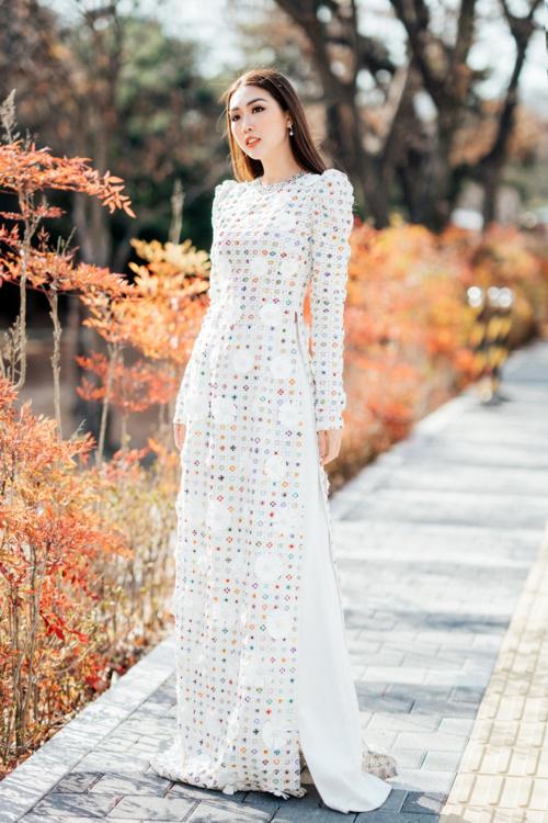 Tường Linh xinh đẹp tại Hàn Quốc.