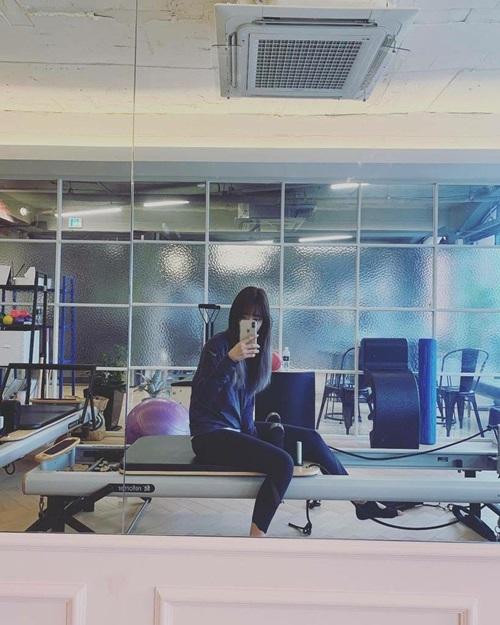 Sau khi hoàn thành việ quay phim, Park Shin Hye đã chăm chỉ tập thể dục giữ dáng.