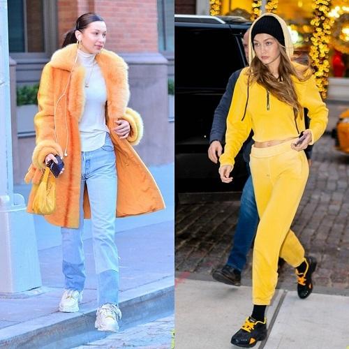 Ngày 29/12 vừa qua, Gigi và Bella gây chú ý khi cùng xuống phố tại khu Big Apple, New York. Hai chị em có hẹn đi ăn với ông bố Mohamed. Gu thời trang rực rỡ đồng điệu của bộ đôi chân dài nhà Hadid chính là điểm thu hút mọi ánh nhìn.
