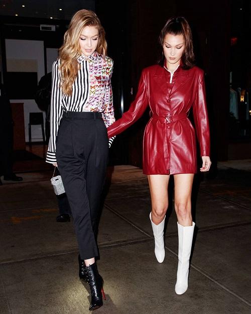 Trong một sự kiện hồi tháng 1, chị em nhà Hadid gây sốt với style ấn tượng: Gigi cool ngầu cá tính còn Bella sang chảnh thời thượng.