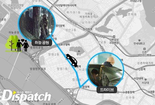 Kai bị bắt gặp lái xe đến đón Jennie và hai người hẹn hò tại công viên Sky ngày 25/11.