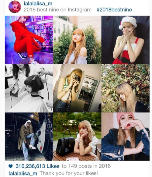 Mới đây, một thống kê về lượt like của cáctài khoản người nổi tiếng trên Instagram nhận được sự chú ý của người hâm mộ. Trong danh sách này, Lisa (Black Pink) đứng ở vị trí thứ 9 trong số những account được thả tim nhiều nhất 2018.