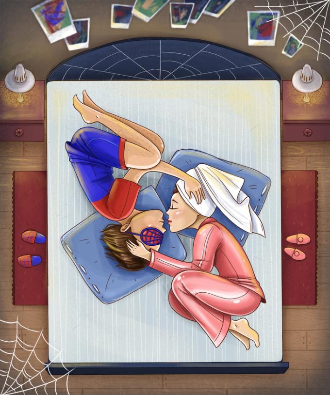 <p> <strong>8. Tư thế ngủ 'người nhện'</strong><br /> Mỗi người đều sống và quan tâm đến một vấn đề riêng và bạn cũng vậy. Trong tình yêu bạn thích sự khám phá và khao khát chinh phục.</p>