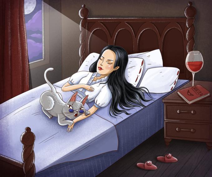<p> <strong>4. Tư thế ngủ 'Dracula'</strong><br /> Bạn thuộc típ người mơ mộng và mong muốn mọi việc đều hoàn hảo như trong mơ. Có rất nhiều người muốn được kết giao với bạn, nhưng tại sao bạn không mở lòng?</p>