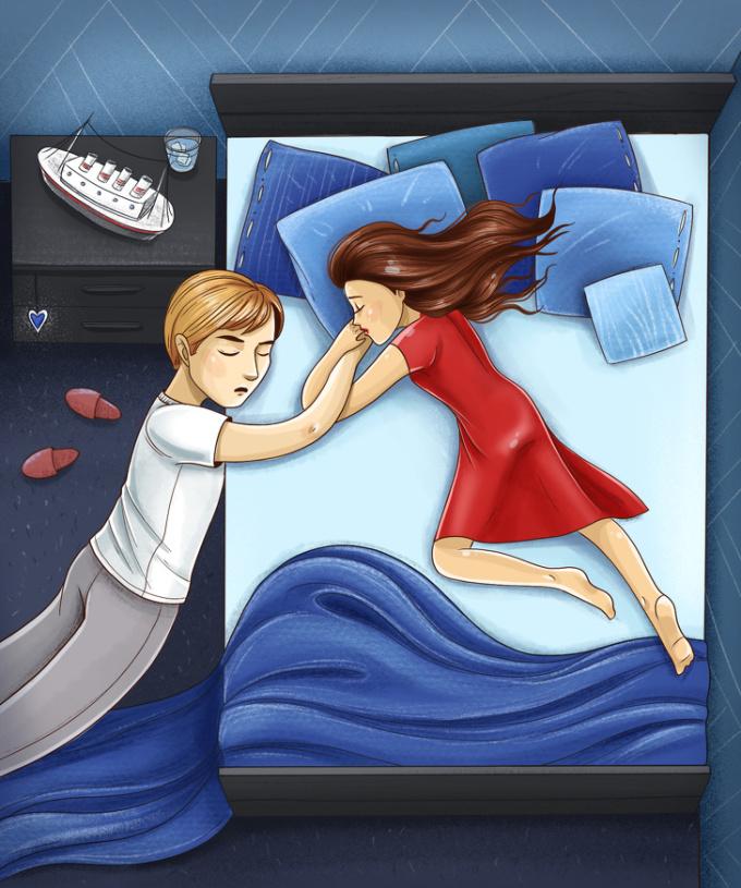 <p> <strong>3. Tư thế ngủ 'Titanic'</strong><br /> Không một điều gì trên thế giới có thể kéo bạn và người yêu ra xa nhau. Bạn luôn sống và cháy hết mình cho tình yêu, ngay cả khi trái tim ngừng đập.</p>