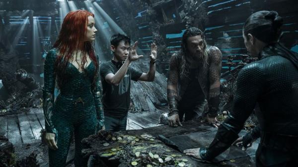 James Wan đang chỉ đạo một phân cảnh trong bom tấn Aquaman.