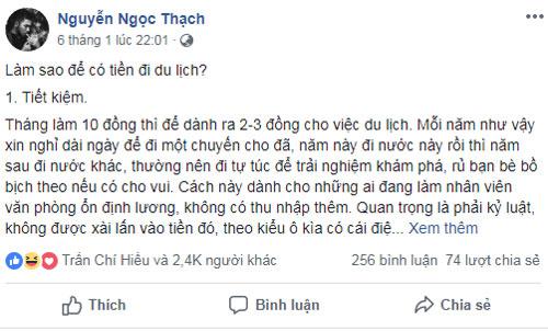 Nhà văn Nguyễn Ngọc Thạch bật mí cách kiếm tiền đi du lịch Tết