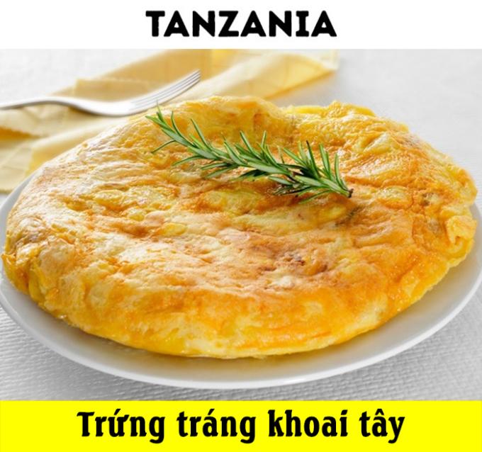<p> Món trứng tráng khoai tây bổ dưỡng tại Tanzania sẽ là gợi ý tuyệt vời dành cho bữa sáng của bạn, với mức giá 1 USD.</p>