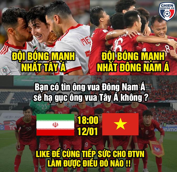 <p> <em>Fox Sports Asia,</em> chuyên trang thể thao hàng đầu châu Á nhận định, Việt Nam sẽ có trận đấu đầy khó khăn khi gặp ứng viên số 1 cho chức vô địch - Iran.</p>