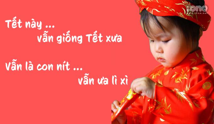 """<p> Hội """"người đã quá tuổi"""" vẫn thích """"bon chen"""": """"Chưa lấy chồng là vẫn còn trẻ, vẫn còn trẻ là vẫn nhận lì xì"""".</p>"""