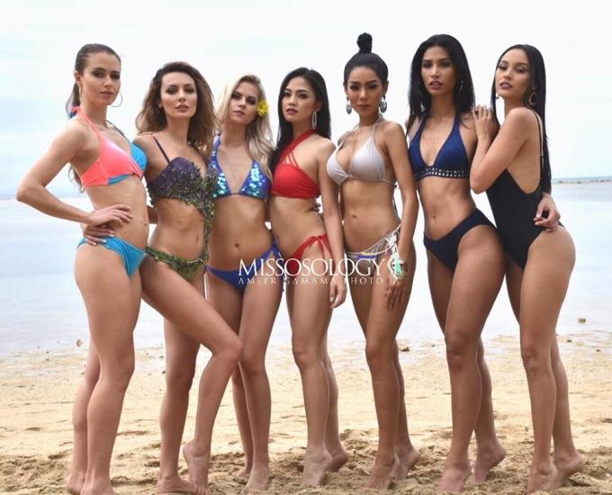 """<p> Ảnh áo tắm của các thí sinh <a href=""""https://ione.vnexpress.net/photo/sao/nhan-sac-gay-bat-ngo-cua-dan-thi-sinh-miss-intercontinental-3866142.html?ctr=related_news_click"""">Miss Intercontinental</a> - Hoa hậu Liên lục địa 2018 - được chụp tại bãi biển ở Playa Calatagan, Batagas, Philippines. Trong hình, các mỹ nhân đến từ khắp nơi trên thế giới diện đồ bơi tự chọn với kiểu dáng, màu sắc khác nhau. <a href=""""https://ione.vnexpress.net/tin-tuc/sao/viet-nam/ngan-anh-khong-cap-phep-cho-toi-la-hanh-dong-cam-tinh-cua-cuc-3864840.html"""">Lê Âu Ngân Anh</a>không có mặt trong loạt hình được <em>Missosology</em> đăng tải.</p>"""