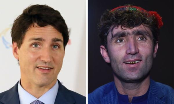 Khuôn mặt của Maftoon (bên phải)được đánh giá giống với Thủ tướng Canada.