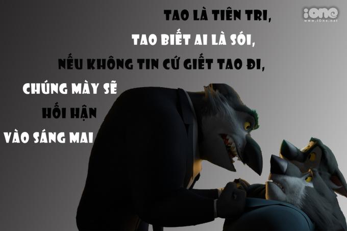 """<p> Dù đúng hay sai, tiên tri vẫn là vai mà sói muốn được nhập vai nhất. Trong cuộc chơi, bất kỳ ai nhận mình là """"Nhà tiên tri"""" đều nhận được sự quan tâm từ mọi người, đôi khi chỉ một câu """"Tao là nhà tiên tri"""" có thể cứu sống lũ sói ma mãnh.</p>"""