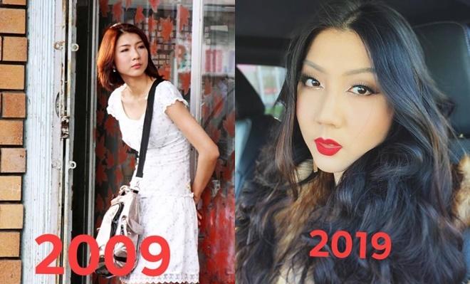 """<p> """"10 years challenge"""" (Thử thách 10 năm) là trào lưu đang được giới trẻ và nhiều sao Việt nhiệt tình tham gia. Bạn chỉ cần dùng bức ảnh của mình cách đây 10 năm để so sánh với hiện tại. Đây là dịp để họ nhìn lại và thấy bản thân mình đã """"dậy thì thành công"""" như thế nào.<br /><br /> Trong hình là siêu mẫu Ngọc Quyên. 10 năm trước, cô sở hữu vóc dáng thanh mảnh và là một trong những chân dài đắt giá của làng mốt Việt. 10 năm sau, cô lui về hậu trường và chăm lo cho cuộc sống gia đình. Ngọc Quyên ở hiện tại có nhan sắc mặn mà, sexy hơn.</p>"""