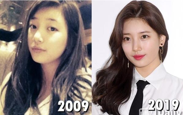 10 năm trước, Suzy mới chỉ là thực tập sinh vô danh tại JYP còn hiệntại cô đã là mỹ nhân hàng đầu Kbiz.