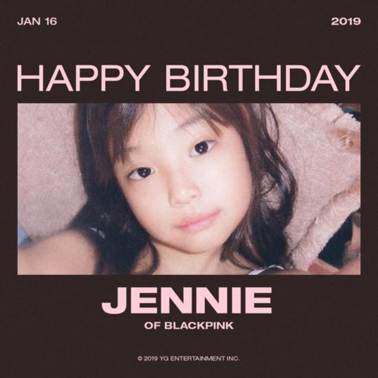 Thông điệp chúc mừng sinh nhật Jennie được YG gửi gắm qua bức ảnh ngày bé này.