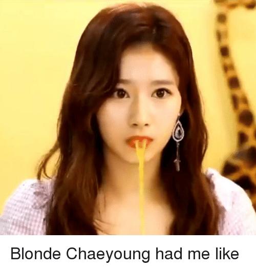 Đây là phản ứng của các fan khi chứng kiến màu tóc vàng của Chae Young.