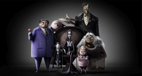 Tạo hình chính thức của nhà Addams năm 2019.