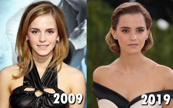 Emma Watson thay đổi khá nhiều. Các fan cho rằng cô đã đi qua thời đỉnh cao nhan sắc (2012-2014). Giờ đây làn da cô nàng có nhiều dấu hiệu lão hóa so với độ tuổi 28, phong độ thời trang cũng thất thường khiến không ít fan thất vọng.