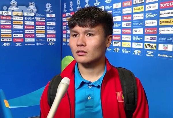 Quang Hải chia sẻ sau trận đấu.