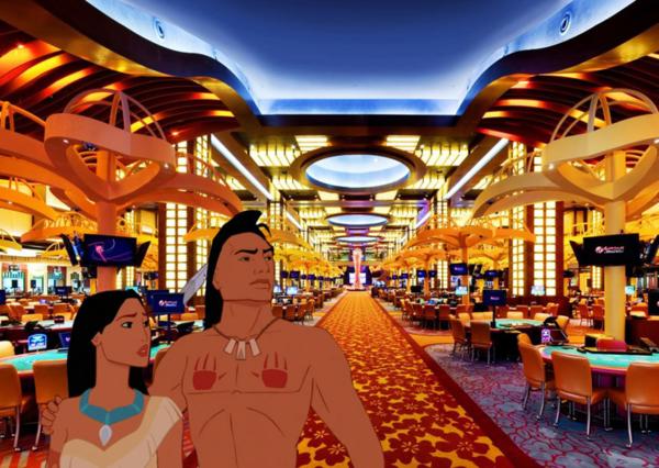 Pocahontas bị lạc trong sòng bạc Ấn Độ khi nơi ở của họ đã bị xây dựng.