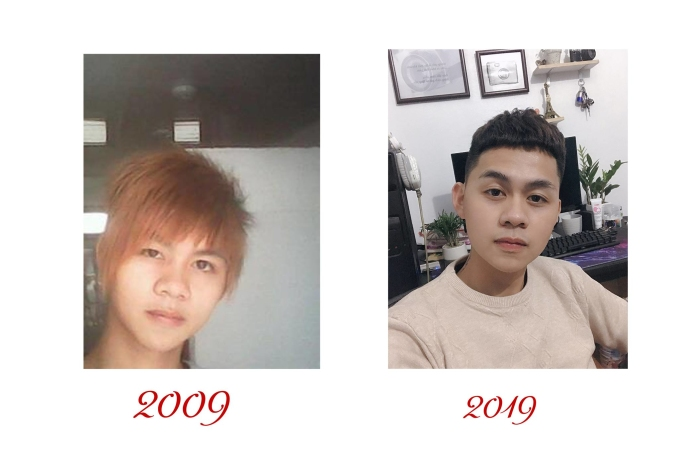 """<p> Mái tóc """"tém vàng hoe"""" một thời nay còn đâu. <em>FB:Lượng Nee</em></p>"""