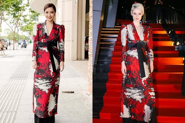Diện cùng trang phục của NTK Phương My, trong khi Bích Phương nổi bật với nét đẹp Á Đông thì Coco Rocha lại gây ấn tượng với nét cá tính, hiện đại.
