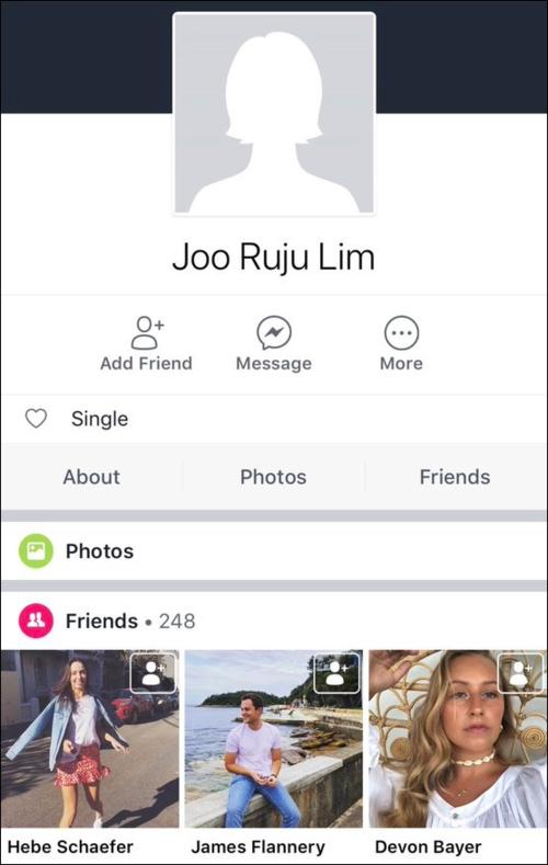 Tài khoản facebook được cho là của Jennie.